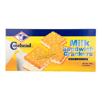 Cowhead Sandwich Crackers with Calcium - Milk 190G (8S) | Biscuits and Crackers | Office Pantry Supplies