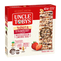 Uncle Tobys Wholegrain Yoghurt Muesli Bars - Str... - 185g | Cereal Bars | Office Pantry Supplies