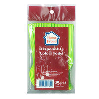HomeProud Disposable Forks - Assorted Colour 30S | Disposables | Office Pantry Supplies