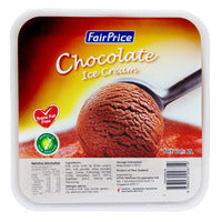 FairPrice Ice Cream Tub - Chocolate 2L | Ice Cream | Office Pantry Supplies