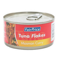 FairPrice Tuna Flakes - Masman Curry 185G | Canned | Office Pantry Supplies