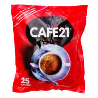 Cafe21 2 in 1 Instant Coffeemix - Original - 25 x 12g | 3-In-1 | Office Pantry Supplies