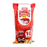 Double Decker Crackers - Prawn (Mini Packs) 10 x 15G | Other Snacks | Office Pantry Supplies