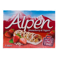 Alpen Cereal Bar - Strawberry & Yogurt 5 x 29G | Cereal Bars | Office Pantry Supplies