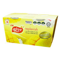 F&N aLive Low Fat Yoghurt - Mango & Nata De Coco 2 x 135G | Milk and Cream | Office Pantry Supplies