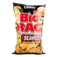 Calbee Big Bag Potato Chips - Seaweed 165G | Chips and Crisps | Office Pantry Supplies