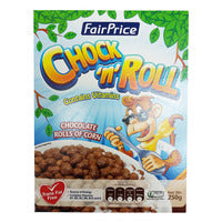 FairPrice Cereals - Chock 'n' Roll (Chocolate Rolls Of Corn) 250G | Cereal | Office Pantry Supplies