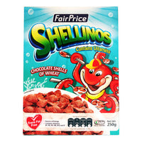 FairPrice Cereals - Shellinos (Chocolate Shells of Wheat) 250G | Cereal | Office Pantry Supplies