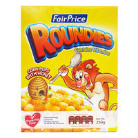 FairPrice Cereals - Roundies (Corn Pops with Honey) 250G | Cereal | Office Pantry Supplies