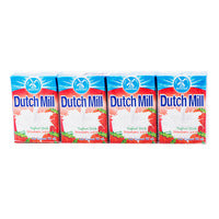 Dutch Mill UHT Drinking Yoghurt - Strawberry 4 x 90ML | Milk and Cream | Office Pantry Supplies