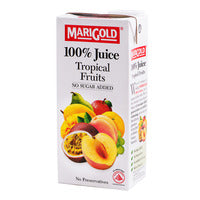 Marigold 100% Packet Juice - Tropical Fruits 1L | Cordials and Juices | Office Pantry Supplies