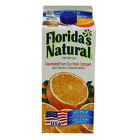 Florida's Natural 100% Orange Juice - No Pulp & Calcium 1.75L | Pure Fruit Juices | Office Pantry Supplies
