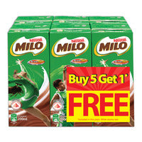 Milo Chocolate Malt Packet Drink - Activ-Go 5 x 200ML + Free 200ML | Chocolate and Malt | Office Pantry Supplies
