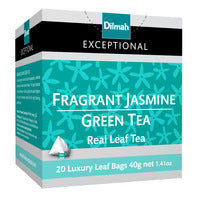 Dilmah Exceptional Tea Bags - Fragrant Jasmine Green Tea 20 x 2G | Flavoured Tea | Office Pantry Supplies