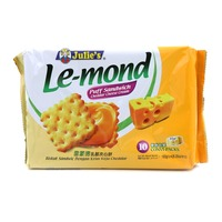 Julie's Le-Mond Sandwich Biscuits - Cheddar Chee... - 180g | Biscuits and Crackers | Office Pantry Supplies