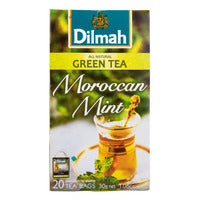 Dilmah Pure Ceylon Tea Bags - Moroccan Mint (Green Tea) 20 x 1.5G | Green Tea | Office Pantry Supplies