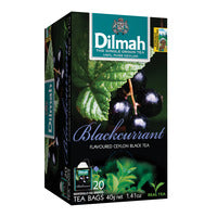 Dilmah Pure Ceylon Tea Bags - Blackcurrant 20 x 2G | Flavoured Tea | Office Pantry Supplies