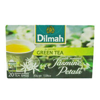 Dilmah Pure Ceylon Tea Bags - Green Tea & Jasmine Petals 20 x 1.5G | Green Tea | Office Pantry Supplies