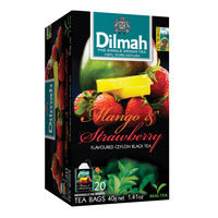 Dilmah Pure Ceylon Tea Bags - Mango & Strawberry 20 x 2G | Flavoured Tea | Office Pantry Supplies
