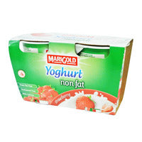 Marigold Non Fat Yoghurt - Strawberry 2 x 140G | Milk and Cream | Office Pantry Supplies