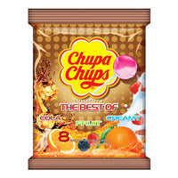 Chupa Chups Lollipops - The Best Of (Assorted) 8 x 12G | Candies | Office Pantry Supplies