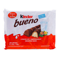 Kinder Bueno Chocolate Wafer Bar - Milk 3 x 43G | Chocolate | Office Pantry Supplies