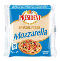 President Cheese Slices - Special Pizza Mozzarella 200G (12S) | Cheese | Office Pantry Supplies
