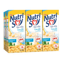 Nutrisoy Soya Milk With Calcium - Reduced Sugar 6 x 250ML | Organic Soy | Office Pantry Supplies