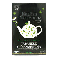 English Tea Shop Organic Tea - Japanese Green Sencha 20 x 2G | Japanese Tea | Office Pantry Supplies