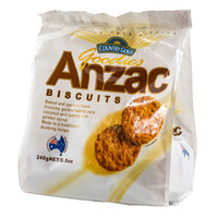 Country Gold Goodies Biscuits - Anzac 240G | Biscuits and Crackers | Office Pantry Supplies