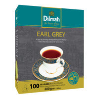 Dilmah Pure Ceylon Tea Bags - Earl Grey 100 x 2G | Flavoured Tea | Office Pantry Supplies