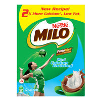Milo 2 in 1 Instant Chocolate Malt Drink - Calcium Enriched 12 x 30G | Chocolate and Malt | Office Pantry Supplies