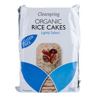 Clearspring Organic Rice Cakes - Lightly Salted ... | Cereal Bars | Office Pantry Supplies