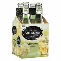 Strongbow Apple Bottle Cider - Elderflower 4 x 330ML | Beer | Office Pantry Supplies