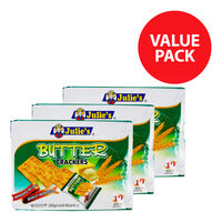 Julie's Crackers - Butter - 3 x 250g (10 per pack) | Biscuits and Crackers | Office Pantry Supplies