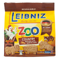 Bahlsen Leibniz Zoo Biscuits - Country (Spelt & ... | Biscuits and Crackers | Office Pantry Supplies