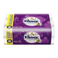 Kleenex Clean Care Toilet Tissue Rolls - Regular - 30 per pack | Paper Products | Office Pantry Supplies