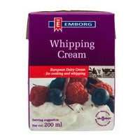 Emborg European Whipping Cream 200ML | Milk and Cream | Office Pantry Supplies
