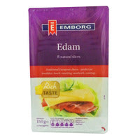 Emborg Natural Cheese Slices - Edam 150G | Cheese | Office Pantry Supplies