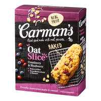 Carman's Baked Oat Slices - Cranberry & Blueberr... | Cereal Bars | Office Pantry Supplies