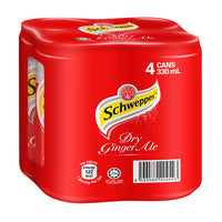 Schweppes Carbonated Can Drink - Dry Ginger Ale ... | Carbonated | Office Pantry Supplies