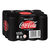Coca-Cola Can Drink - Zero 12 x 320ML (CTN) | Carbonated | Office Pantry Supplies