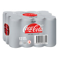 Coca-Cola Can Drink - Light 12 x 320ML (CTN) | Carbonated | Office Pantry Supplies
