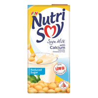 F&N NutriSoy Soya Milk - Calcium (Reduced Sugar) 1L | Organic Soy | Office Pantry Supplies