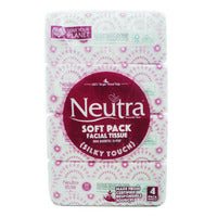 Neutra Soft Pack Tissues - Silky Touch (2ply) - 4 x 200 per pack | Paper Products | Office Pantry Supplies
