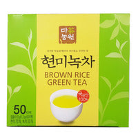 Danongwon Tea Garden Tea Bags - Brown Rice Green Tea 50 x 1.3G | Green Tea | Office Pantry Supplies