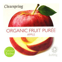 Clearspring Organic Fruit Puree - Apple 2 x 100G | Cordials and Juices | Office Pantry Supplies