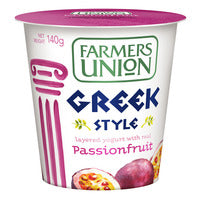 Farmers Union Greek Style Yoghurt - Passionfruit 140G | Yoghurt | Office Pantry Supplies