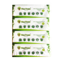 NooTrees Bamboo Pulp Facial Tissue - Soft (2ply) - 4 x 170 per pack | Paper Products | Office Pantry Supplies