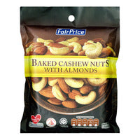 FairPrice Baked Cashew Nuts with Almonds 150G | Beans Seeds Nuts | Office Pantry Supplies
